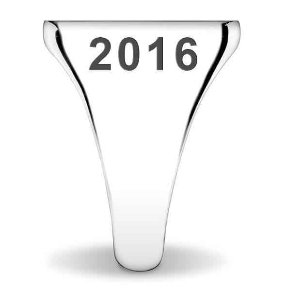 Delta Delta Delta Sterling Silver Oval Signet Ring - Image 3