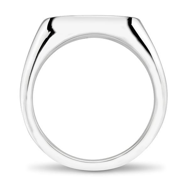 Delta Delta Delta Sterling Silver Oval Signet Ring - Image 4