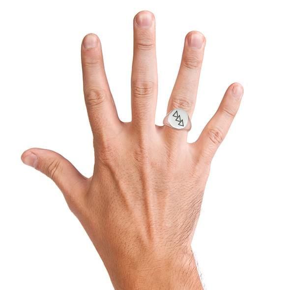 Delta Delta Delta Sterling Silver Oval Signet Ring - Image 6