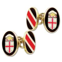 Brown Enamel Cufflinks