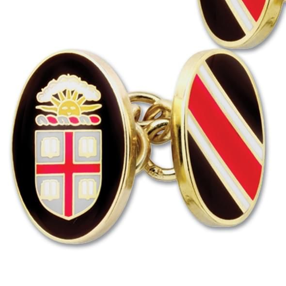 Brown Enamel Cufflinks - Image 2