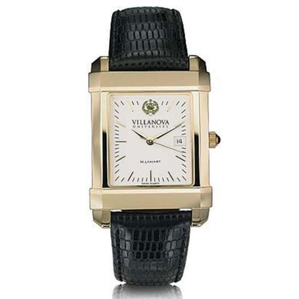 Villanova Men's Gold Quad Watch with Leather Strap - Image 2