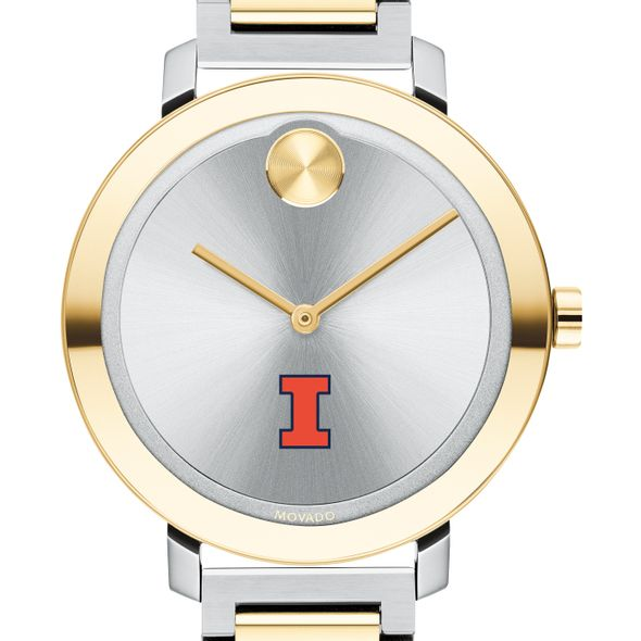 University of Illinois Women's Movado Two-Tone Bold 34