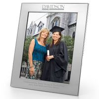 Davidson College Polished Pewter 8x10 Picture Frame