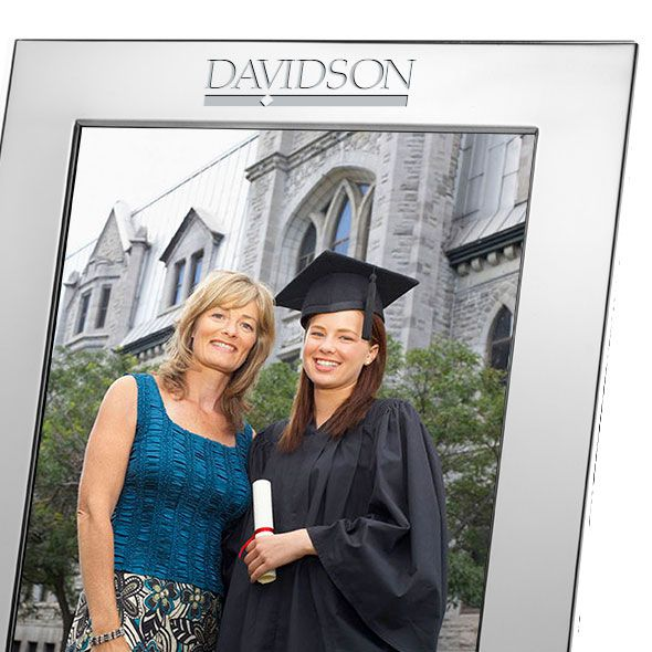 Davidson College Polished Pewter 8x10 Picture Frame - Image 2
