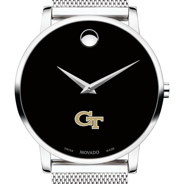 Georgia Tech Men's Movado Museum with Mesh Bracelet