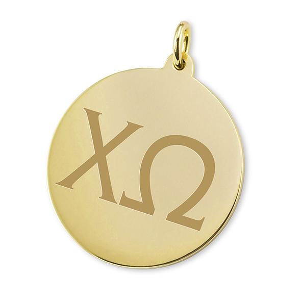 Chi Omega 18K Gold Charm