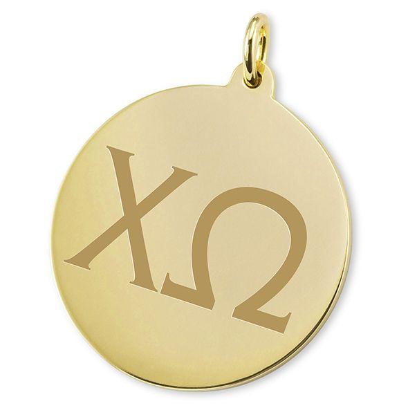 Chi Omega 18K Gold Charm - Image 2