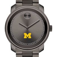 University of Michigan Men's Movado BOLD Gunmetal Grey