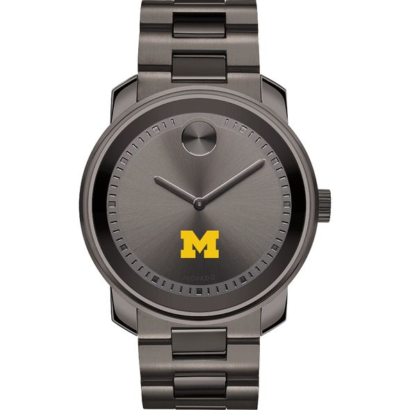 University of Michigan Men's Movado BOLD Gunmetal Grey - Image 2