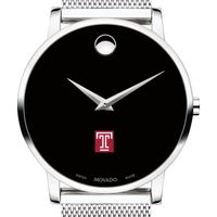 Temple University Men's Movado Museum with Mesh Bracelet
