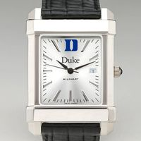 Duke Men's Collegiate Watch with Leather Strap