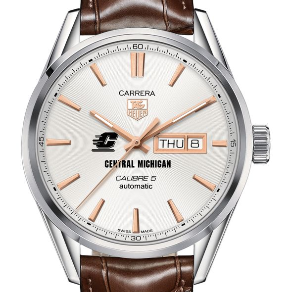 Central Michigan Men's TAG Heuer Day/Date Carrera with Silver Dial & Strap