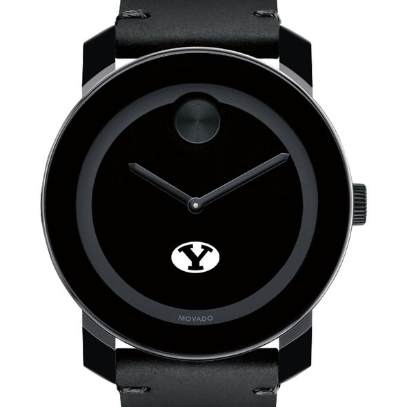 Brigham Young University Men's Movado BOLD with Leather Strap