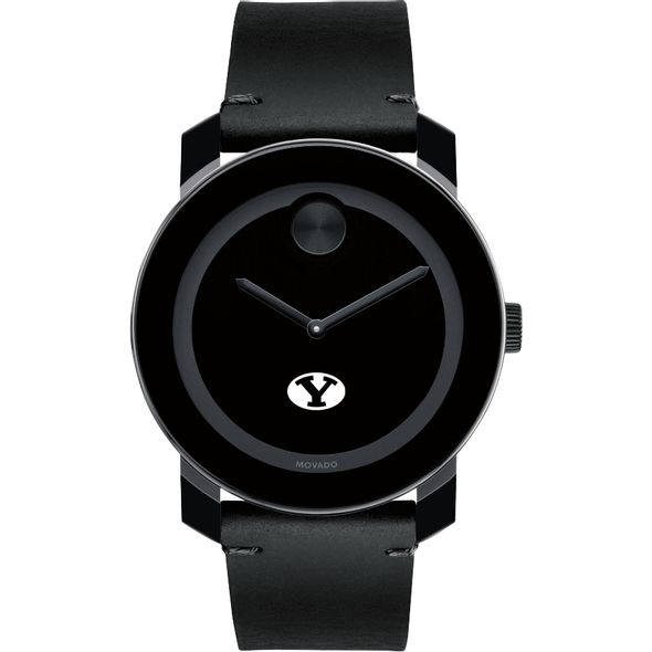 Brigham Young University Men's Movado BOLD with Leather Strap - Image 2