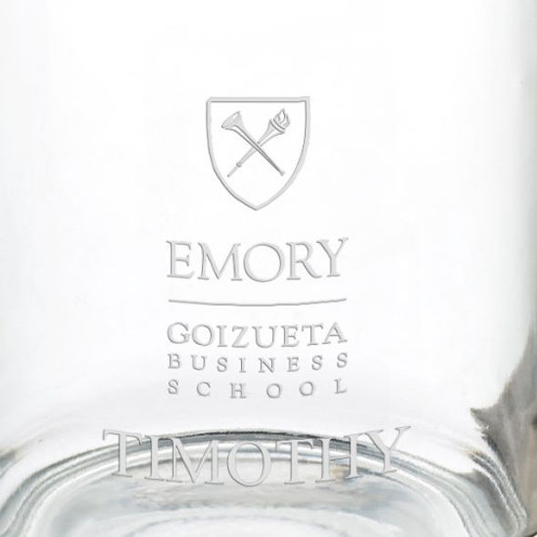 Emory Goizueta Business School 13 oz Glass Coffee Mug - Image 3