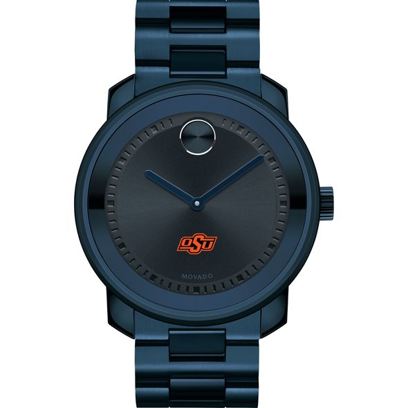 Oklahoma State University Men's Movado BOLD Blue Ion with Bracelet - Image 2