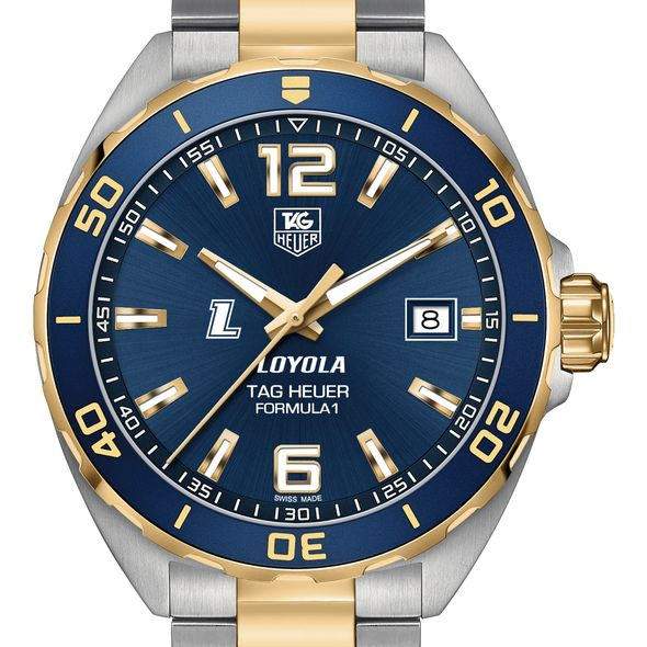 Loyola Men's TAG Heuer Two-Tone Formula 1 with Blue Dial & Bezel - Image 1