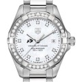 University of Colorado Women's TAG Heuer Steel Aquaracer with MOP Diamond Dial & Bezel - Image 1