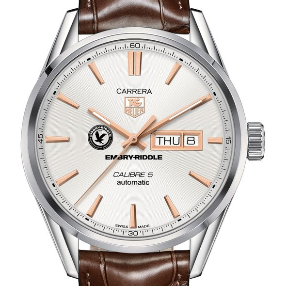 Embry-Riddle Men's TAG Heuer Day/Date Carrera with Silver Dial & Strap
