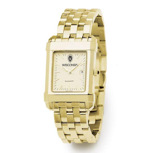 Wisconsin Men's Gold Quad Watch with Bracelet - Image 2
