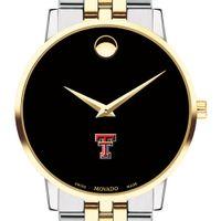 Texas Tech Men's Movado Two-Tone Museum Classic Bracelet