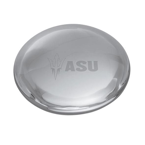 Arizona State Glass Dome Paperweight by Simon Pearce