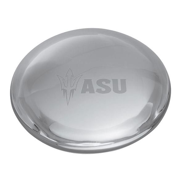 Arizona State Glass Dome Paperweight by Simon Pearce - Image 2