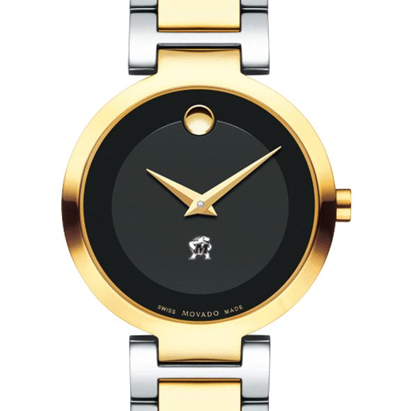 University of Maryland Women's Movado Two-Tone Modern Classic Museum with Bracelet