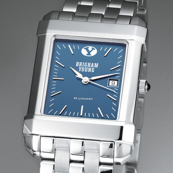 Brigham Young University Men's Steel Quad Blue Dial with Bracelet