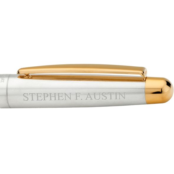 SFASU Fountain Pen in Sterling Silver with Gold Trim - Image 2