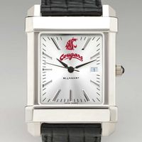 Washington State University Men's Collegiate Watch with Leather Strap