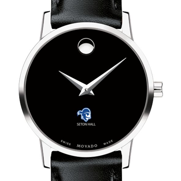 Seton Hall Women's Movado Museum with Leather Strap - Image 1