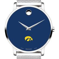University of Iowa Men's Movado Museum with Blue Dial & Mesh Bracelet