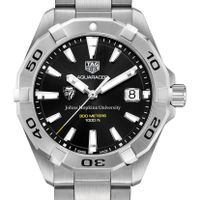 Johns Hopkins University Men's TAG Heuer Steel Aquaracer with Black Dial