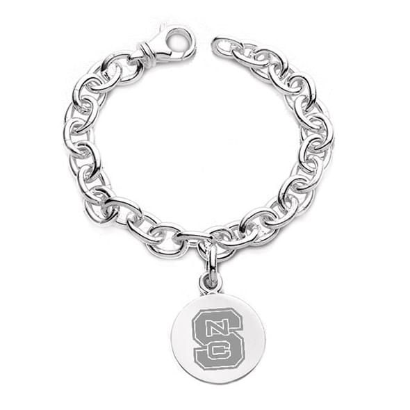 NC State Sterling Silver Charm Bracelet