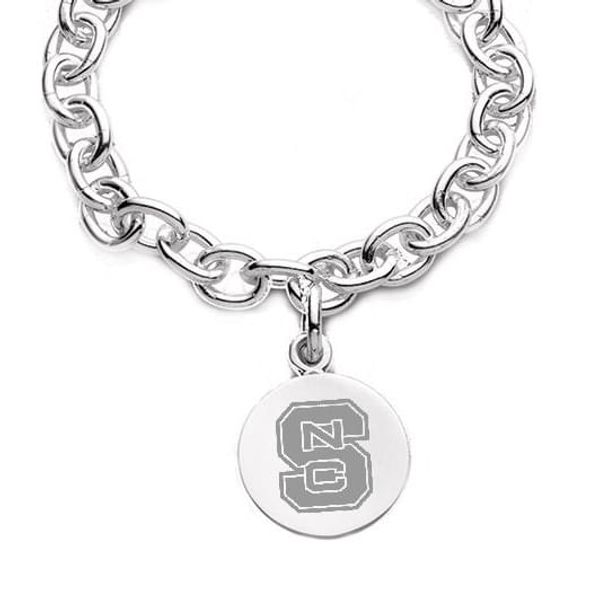 NC State Sterling Silver Charm Bracelet - Image 2