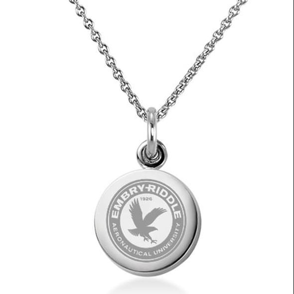 Embry-Riddle Necklace with Charm in Sterling Silver