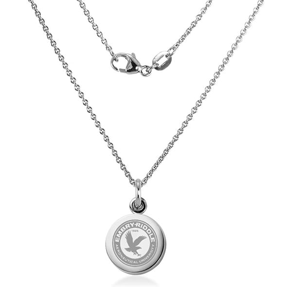 Embry-Riddle Necklace with Charm in Sterling Silver - Image 2