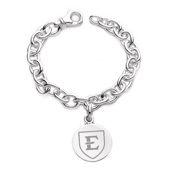 East Tennessee State University Sterling Silver Charm Bracelet