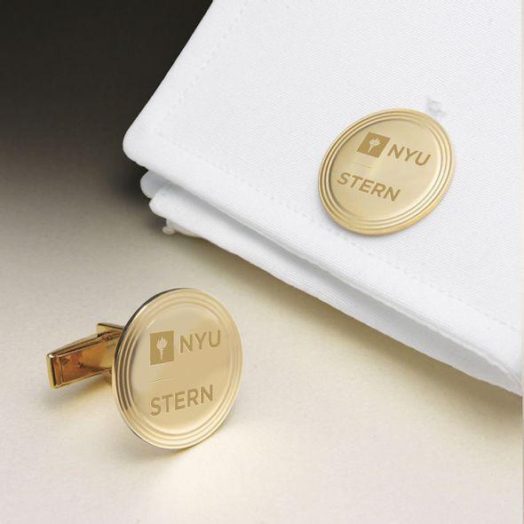 NYU Stern 18K Gold Cufflinks - Image 1