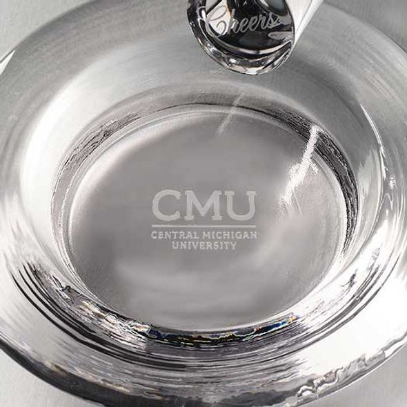 Central Michigan Glass Wine Coaster by Simon Pearce - Image 2