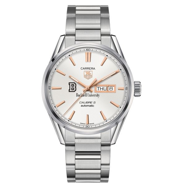 Bucknell University Men's TAG Heuer Day/Date Carrera with Silver Dial & Bracelet - Image 2