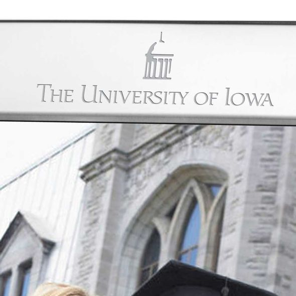 University of Iowa Polished Pewter 8x10 Picture Frame - Image 2