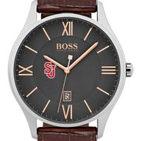 St. John's University Men's BOSS Classic with Leather Strap from M.LaHart