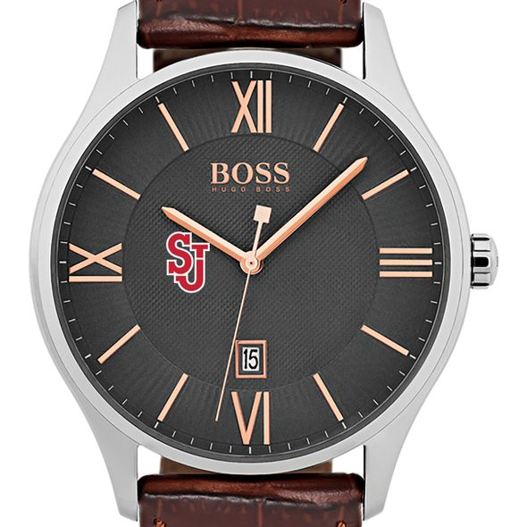 St. John's University Men's BOSS Classic with Leather Strap from M.LaHart - Image 1