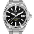 Texas McCombs Men's TAG Heuer Steel Aquaracer with Black Dial - Image 1