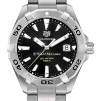 Texas McCombs Men's TAG Heuer Steel Aquaracer with Black Dial