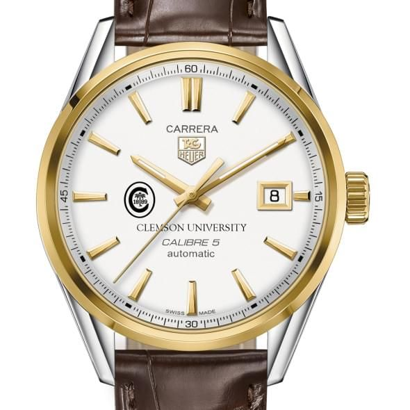 Clemson Men's TAG Heuer Two-Tone Carrera with Strap