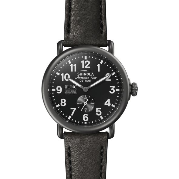 UNC Kenan-Flagler Shinola Watch, The Runwell 41mm Black Dial - Image 2